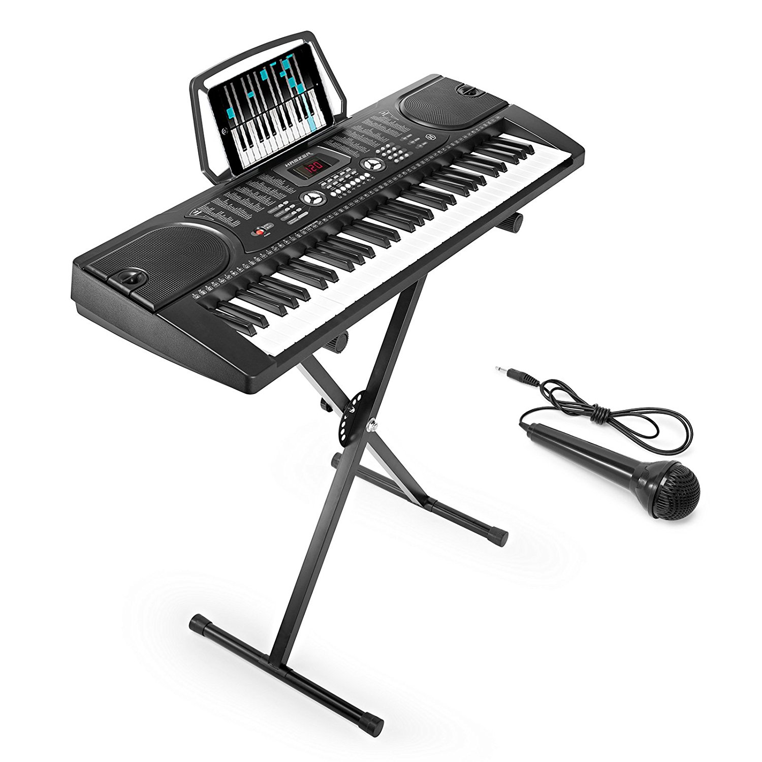 c63d2c3d19d Are you looking for a piano that you can move around? Choose the Hamzer  that also comes with a detachable stand. Use the complete set of 61 keys to  learn to ...